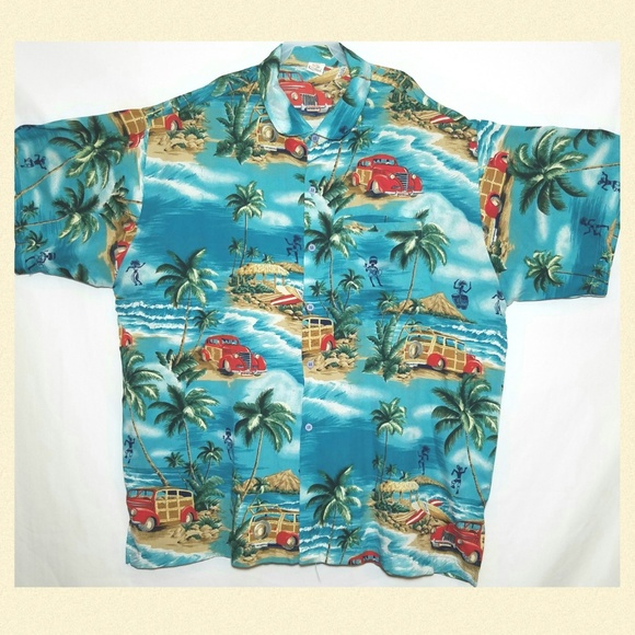 0c022938 Rima Shirts | Mens Beach Wear Hawaiian Shirt Size Xl | Poshmark